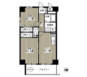 ウイングス・ハイ亀戸7階Fの間取り画像