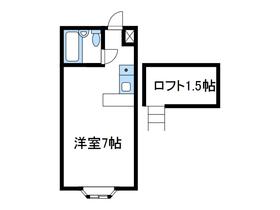 ベルピア愛甲石田2階Fの間取り画像