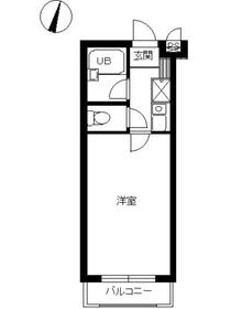 スカイコート志村坂上1階Fの間取り画像