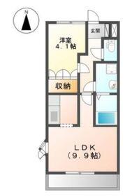 マーヴェラスパレス 32階Fの間取り画像