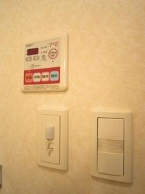 浴室換気乾燥機能完備 暖房も可能