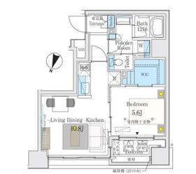 セレニティー神田8階Fの間取り画像