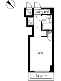 スカイコート横浜平沼4階Fの間取り画像