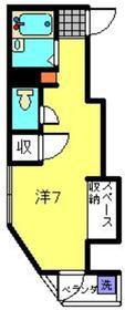 武蔵小杉駅 徒歩10分2階Fの間取り画像