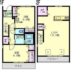上野毛森の家2階Fの間取り画像