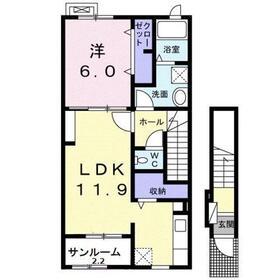 メゾン ド ルミエール2階Fの間取り画像