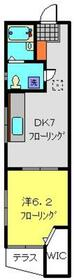 リバンスコイズミ1階Fの間取り画像