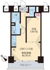プライム・ガスク4階Fの間取り画像