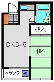 カーサ・ピラカンサ4階Fの間取り画像