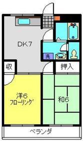 ソフィアマンション1階Fの間取り画像
