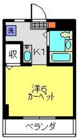 柳澤ハイツ4階Fの間取り画像