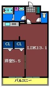 パークワンモア東船橋1階Fの間取り画像