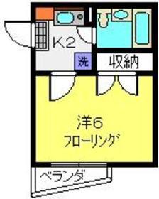 エクセルシア松ヶ丘1階Fの間取り画像