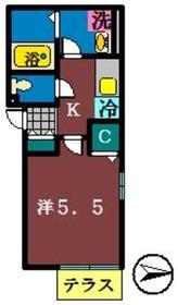 クレアシオン1階Fの間取り画像