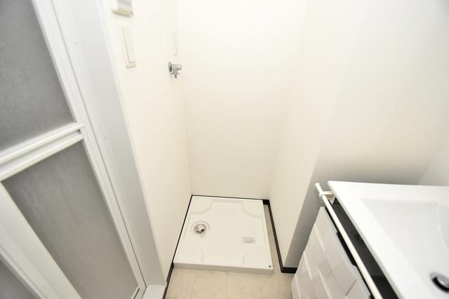 U-ro北巽 嬉しい室内洗濯機置場。これで洗濯機も長持ちしますね。