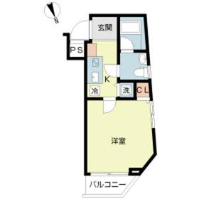 スカイコート牛込神楽坂3階Fの間取り画像