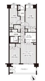 上永谷駅 徒歩2分5階Fの間取り画像