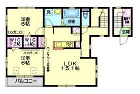 ラ・クール2階Fの間取り画像