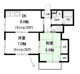 プレステージ富士見台1階Fの間取り画像