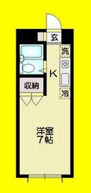 ドエル高円寺2階Fの間取り画像