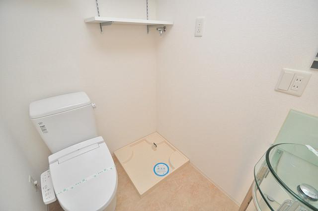 SERENITE高井田(セレニテ) 嬉しい室内洗濯機置場。これで洗濯機も長持ちしますね。