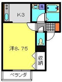 プチリキシ1階Fの間取り画像