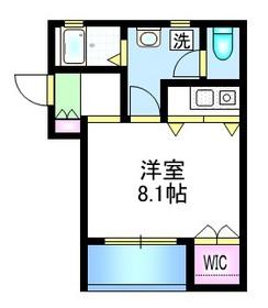 ドナハイム2階Fの間取り画像