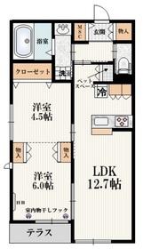 メゾンヒルE1階Fの間取り画像