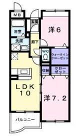 ソレイユ相模が丘3階Fの間取り画像