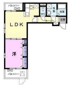 ヴィラセナーレⅡ1階Fの間取り画像