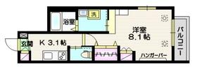メゾン オリヴィエ2階Fの間取り画像