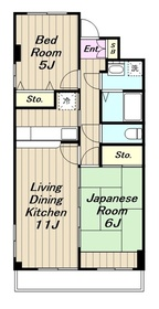 東林間駅 徒歩18分2階Fの間取り画像