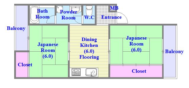 ファミーユ和喜 ひとつひとつのお部屋が、ゆとりのある間取りになってます。