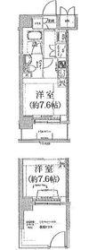 クラリッサ横浜アレッタ2階Fの間取り画像