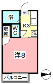 メゾンフレール2階Fの間取り画像