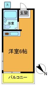 市川駅 バス15分「国分高校停」徒歩5分2階Fの間取り画像