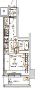 クラリッサ川崎グランデ3階Fの間取り画像