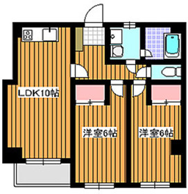 地下鉄赤塚駅 徒歩3分5階Fの間取り画像