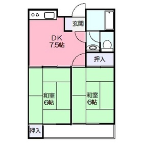 第1ヤマトハイツ3階Fの間取り画像