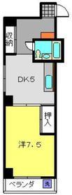 平間駅 徒歩3分2階Fの間取り画像