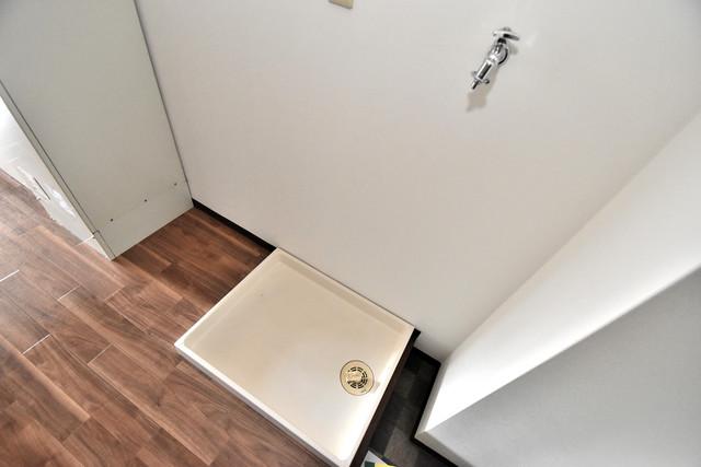 サンピリア小阪 室内洗濯機置き場は脱衣場も兼ねています。