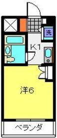 シルフィード横浜6階Fの間取り画像