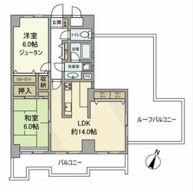 ライオンズマンション和田町第26階Fの間取り画像