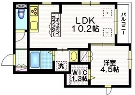 オルドヌング神楽坂3階Fの間取り画像