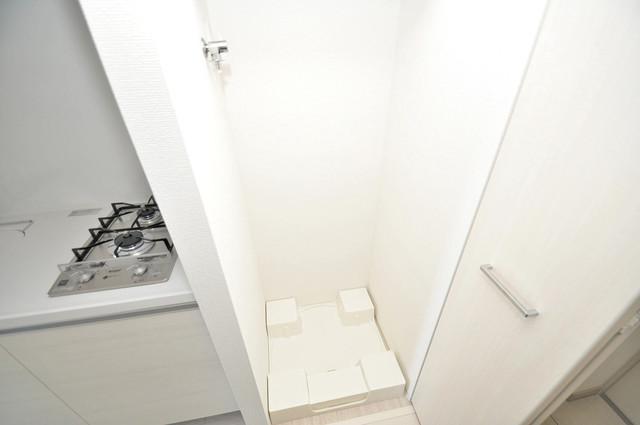 アドバンス大阪バレンシア 嬉しい室内洗濯機置場。これで洗濯機も長持ちしますね。