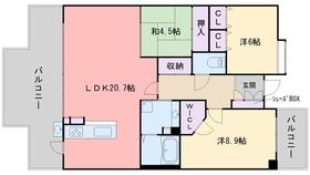 コアマンション百道プレジオ7階Fの間取り画像