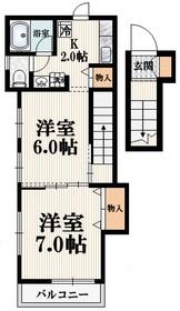 フィアー東高円寺2階Fの間取り画像