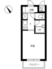 スカイコート神楽坂4階Fの間取り画像