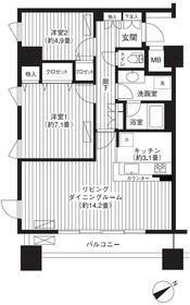 LOOP-M5階Fの間取り画像