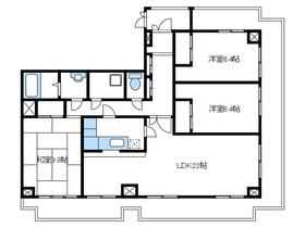 レジデンス伊藤Ⅱ3階Fの間取り画像